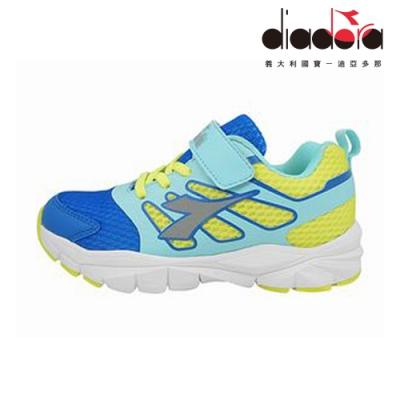 Diadora 兒童競速慢跑鞋 中童 超寬楦 藍 DA9AKR7936