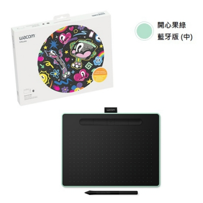 Wacom Intuos Comfort Medium 藍牙繪圖板(綠)