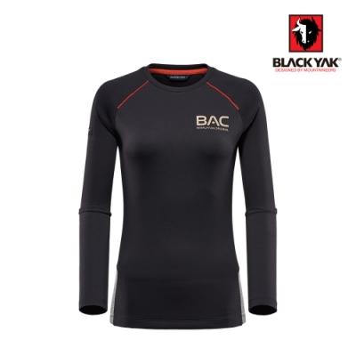 【BLACKYAK】女吸排長袖上衣 [黑色]
