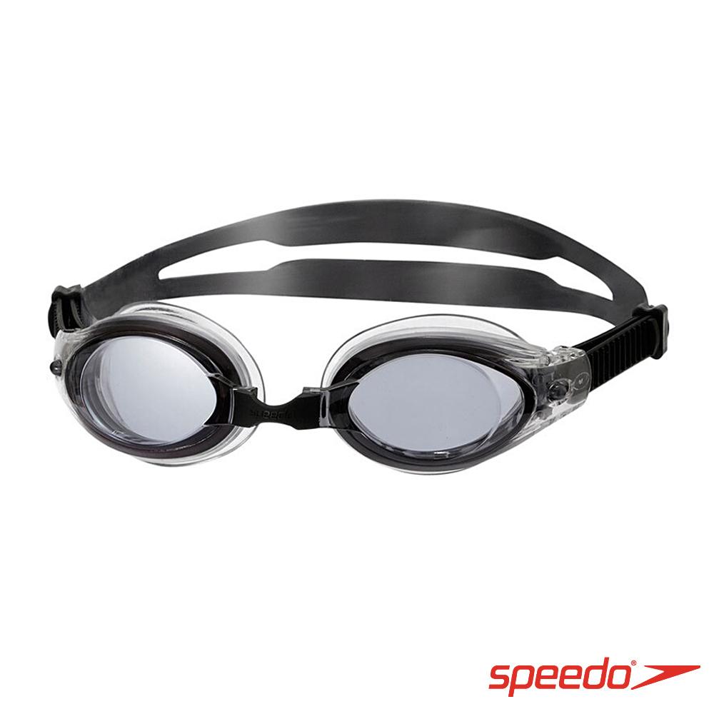 SPEEDO 成人進階泳鏡Mariner SpeedFit 黑 灰