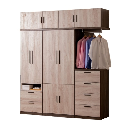 D&T 德泰傢俱 Petra 簡約生活 6.7尺高被櫥衣櫃-200x54x235cm