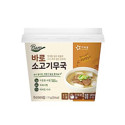 韓味不二【韓國原裝】牛肉蘿蔔湯(11g/杯)