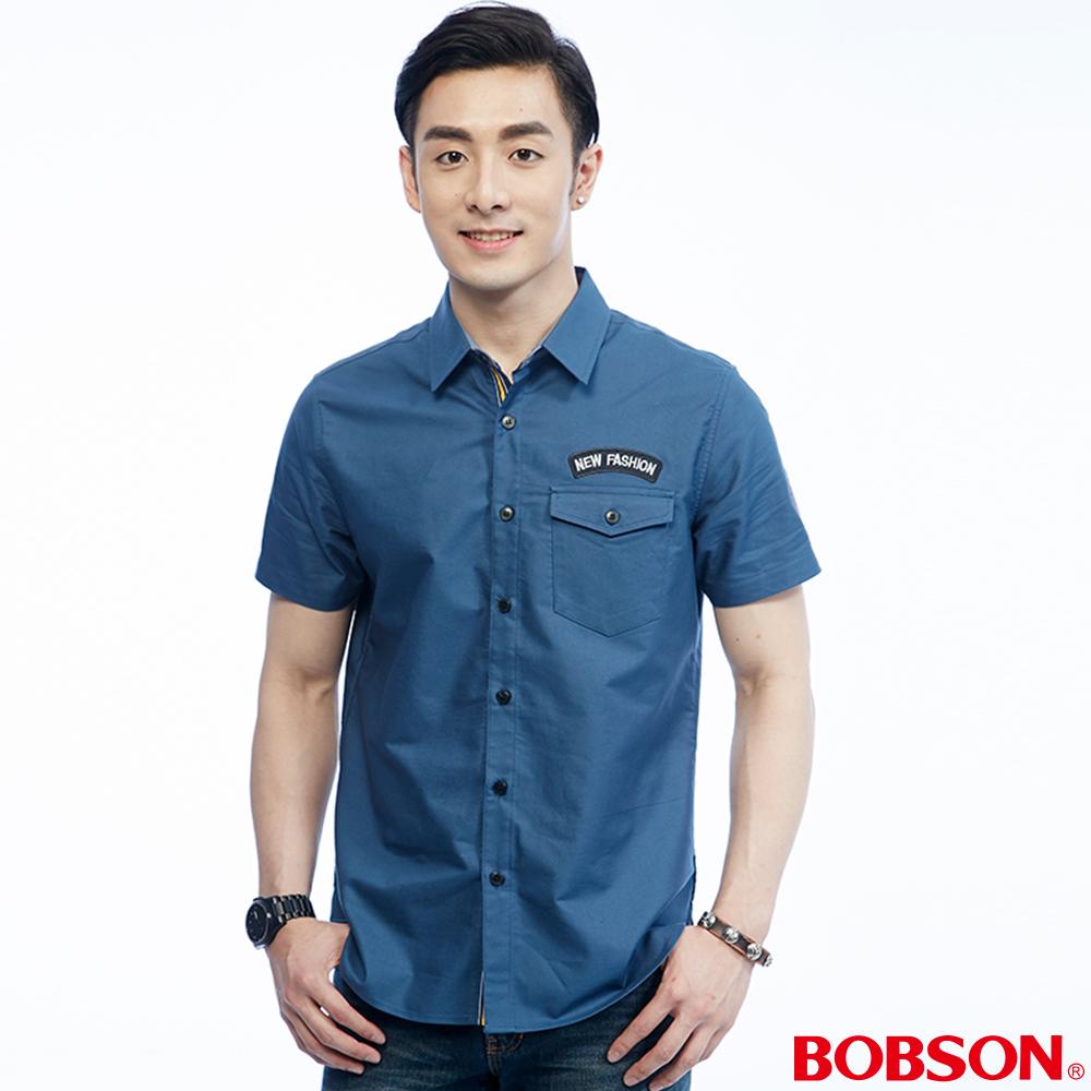 BOBSON 男款繡標襯衫