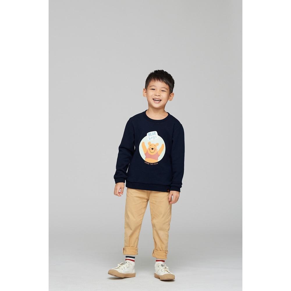 野獸國 迪士尼 小熊維尼系列 維尼擁抱款 兒童大學服 (丈青)