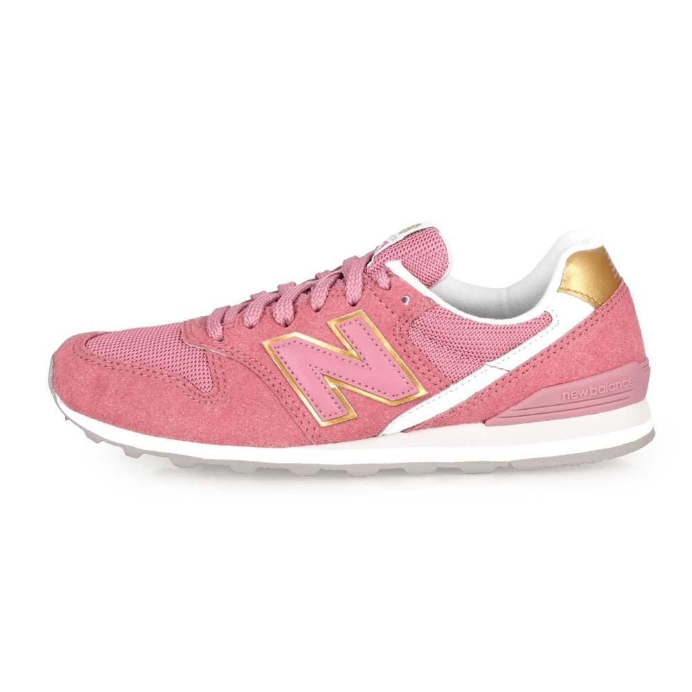 NEWBALANCE 女 復古慢跑鞋 珊瑚紅白金