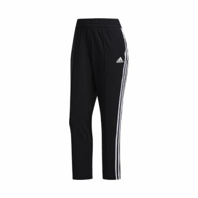 adidas 長褲 3-Stripes 7/8 Pants 女款 愛迪達 三線 九分褲 簡約 口袋 黑 白 FJ7153