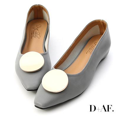 D+AF 百變巧思.可換釦設計內增高包鞋*灰