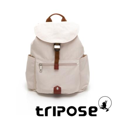 tripose MEMENTO系列微皺尼龍經典輕量後背包(大) 月光白
