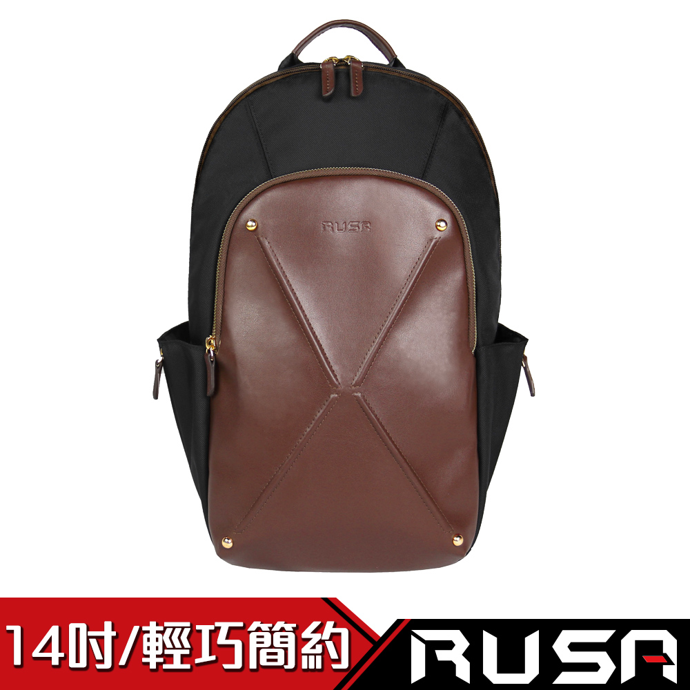 RUSA 漫遊者 14吋電腦後背包(RS-BB-503/低奢褐)