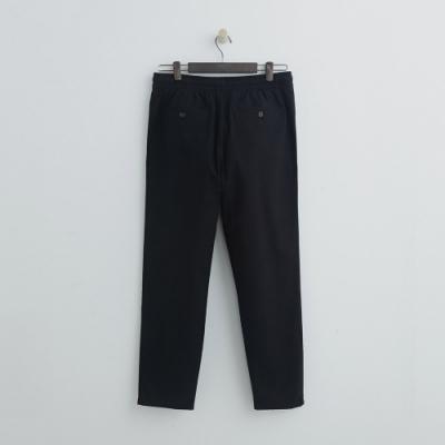 Hang Ten - 男裝 - 鬆緊休閒西裝褲 - 黑