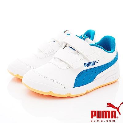PUMA童鞋 經典雙絆帶款 ON92522-04白藍(中小童段)