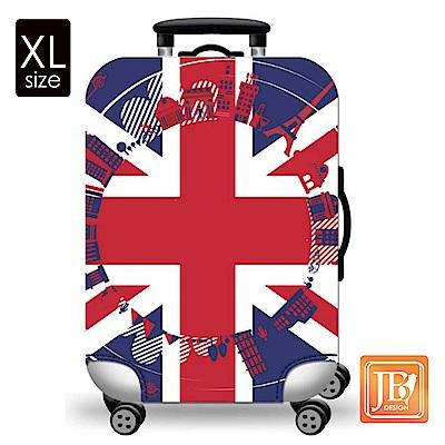 繽紛行李箱套-英倫風情XL