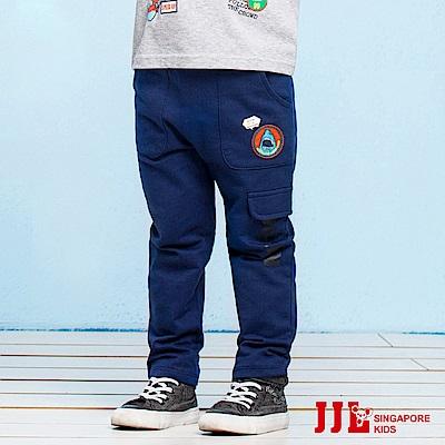 JJLKIDS 大口袋鯊魚休閒棉褲(藏青)