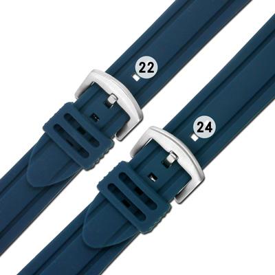 Watchband / 各品牌通用 舒適耐用 輕便 運動型 加厚矽膠錶帶 深藍