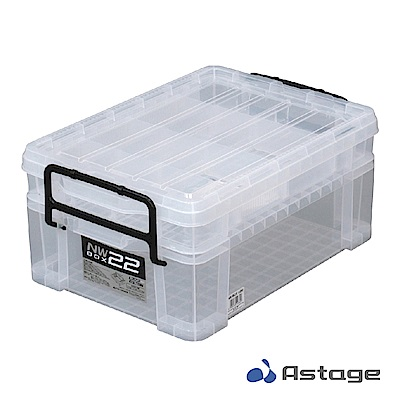 日本 Astage NW22 多格便攜整理箱/2層/透明