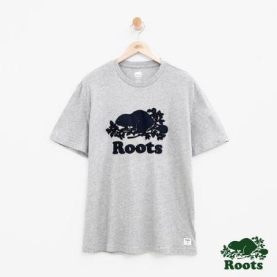 男裝Roots 庫柏海狸短袖T恤-灰色