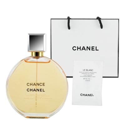 CHANEL香奈兒 CHANCE邂逅香水100ml +提袋及美妝小物