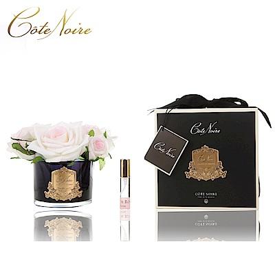 法國 CoteNoire 蔻特蘭 五朵粉白玫瑰香氛花黑瓶