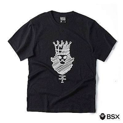 BSX 男裝VON素描塗鴉印花T恤-04 黑色