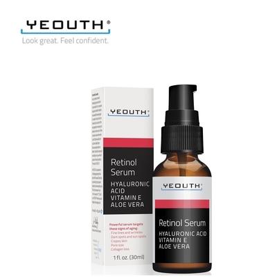 美國YEOUTH 視黃醇精華液30ml (Retinol SERUM) 含玻尿酸、蘆薈、維生素E