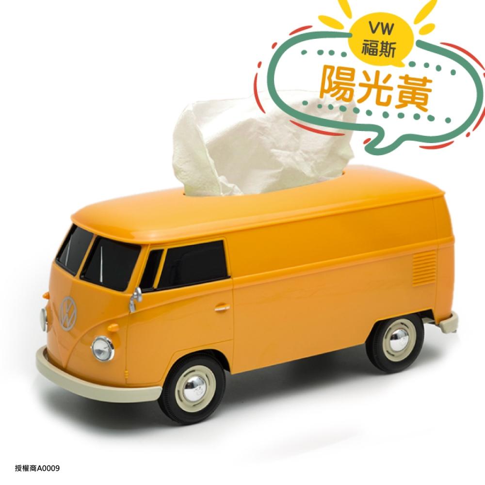 Amuzinc酷比樂 福斯 T1 Bus Welly原廠授權 汽車造型面紙盒 黃色