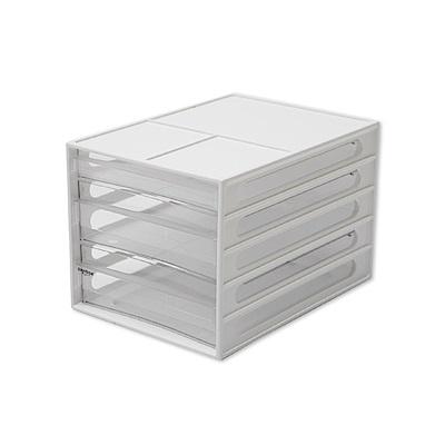 完美主義 桌上型三抽資料櫃/文件櫃2入組 (2色)