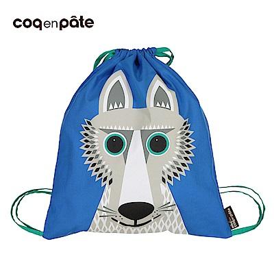 【COQENPATE】法國有機棉無毒環保布包 - 童趣輕鬆包- 野狼