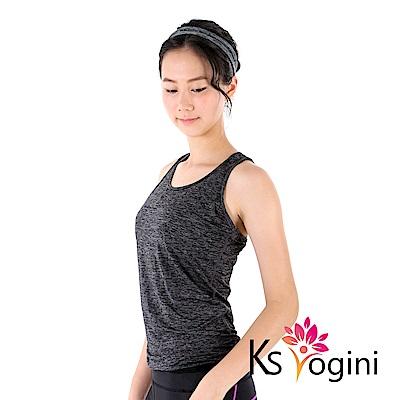 KS yogini 涼感吸排彈力坦克運動瑜珈背心 黑灰