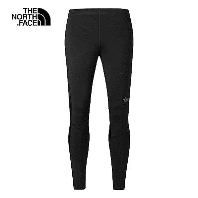 The North Face北面男款黑色吸濕速乾緊身褲