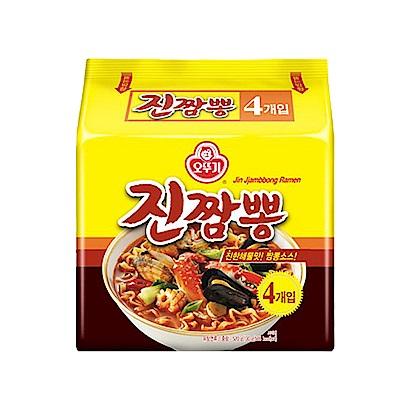 OTTOGI不倒翁 金螃蟹海鮮風味拉麵(130gx4入)