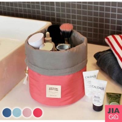 JIAGO 大容量圓筒防潑水旅行化妝收納包3件組