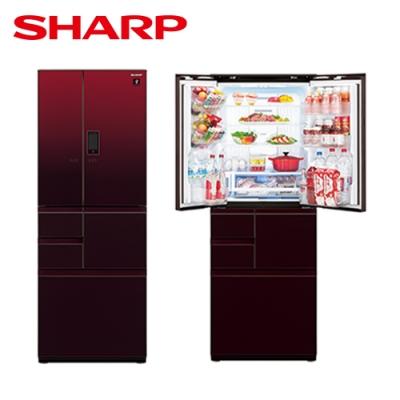 [下單再折] SHARP 夏普 551L 自動除菌離子變頻觸控對開冰箱 星鑽紅 SJ-GX55ET-R