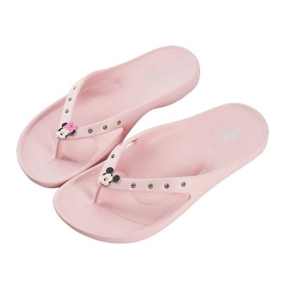 迪士尼親子鞋 米奇米妮 大人夾腳拖鞋-粉