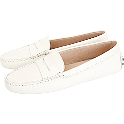 TOD'S Gommino 防刮牛皮豆豆休閒鞋(女鞋/優雅白)