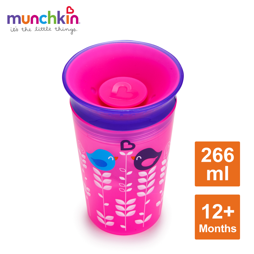 munchkin滿趣健-360度繽紛防漏杯266ml