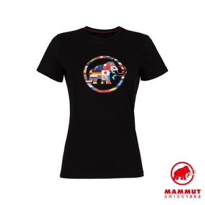 【Mammut 長毛象】Nations T-Shirt Men 世界LOGO短袖上衣 女款 黑色 #1017-02230