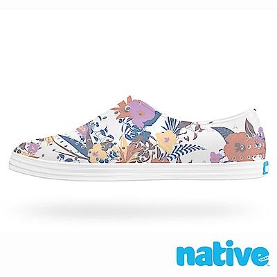native JERICHO 女鞋-白色熱帶花卉印花