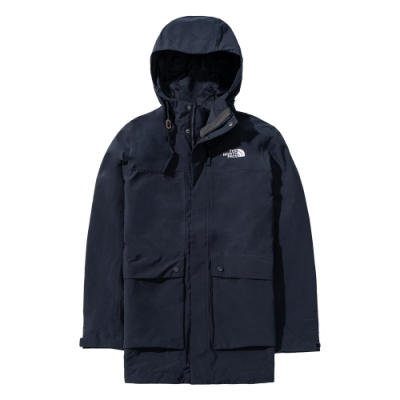 The North Face 男 防水透氣衝鋒衣 深藍-NF0A4U7YH2G