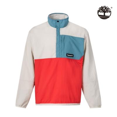 Timberland 男款紅白藍拼色Archive戶外可收納外套|A2D4S