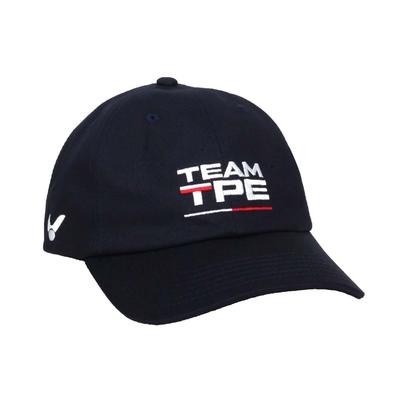 VICTOR 應援帽-台灣製 純棉 帽子 遮陽 防曬 鴨舌帽 勝利 C-VC212F 丈青白紅