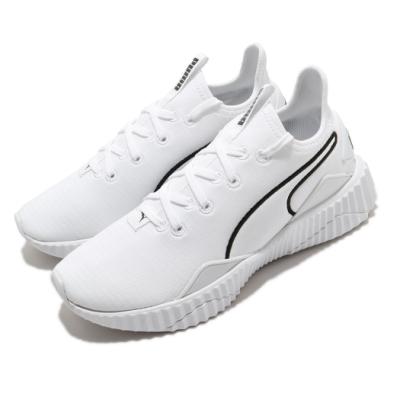 Puma 訓練鞋 Defy New Core 運動 女鞋 健身房 支撐 避震 襪套 包覆 球鞋 白 黑 19305903