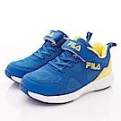 FILA頂級童鞋 透氣反光運動款 FO04T-399藍黃(中大童段)