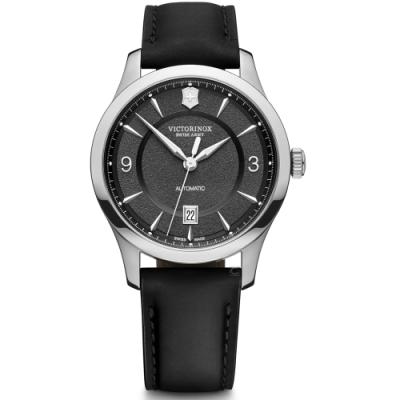 VICTORINOX瑞士維氏Alliance經典機械錶(VISA-241869)-黑