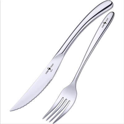 PUSH!餐具316不銹鋼叉子刀叉牛排刀叉西餐餐具二件套裝E161