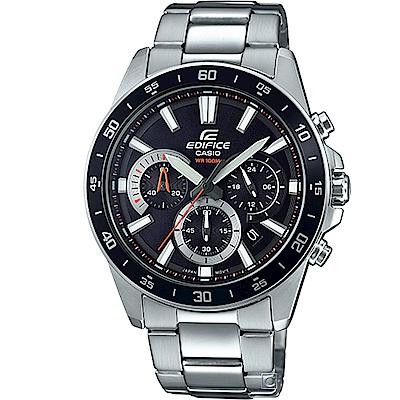 EDIFICE 三眼競速計時腕錶(EFV-570D-1A)黑43.8mm