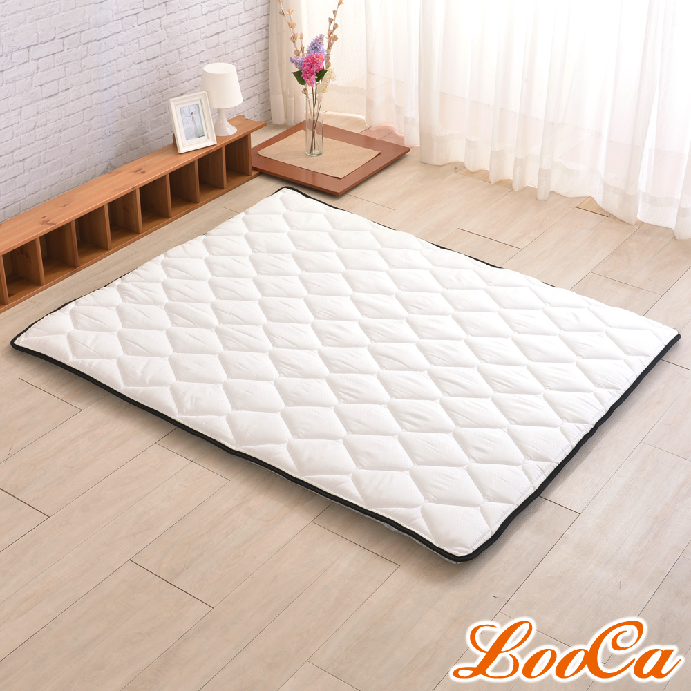 (雅虎限定)LooCa 3M防潑水技術-超厚8cm兩用日式床墊-加大6尺