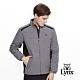 【Lynx Golf】男款防潑水橫紋鋪棉異材質剪接長袖外套-深藍色 product thumbnail 2