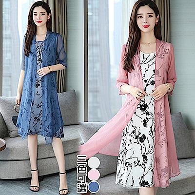 【韓國K.W.】撩人時尚超級二件式洋裝-3色