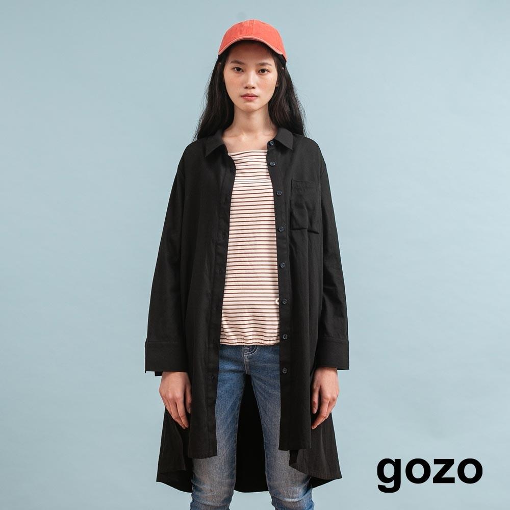 gozo 造型解構鈕扣長襯衫(二色)