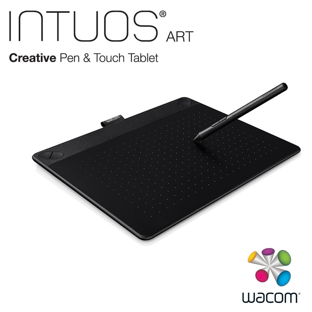 (福利品) Wacom Intuos Art 藝術創意觸控繪圖板-經典黑(中)